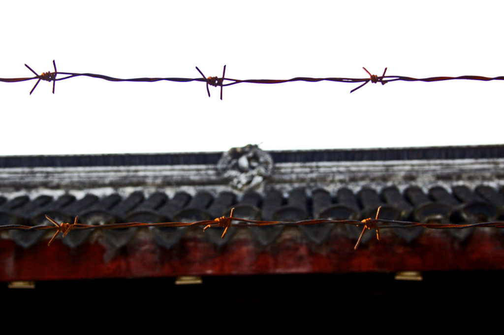 Barbed wire at Longhua Temple, Shanghai by Bel