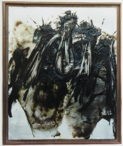 Ba Hai 1994 black oil on aluminium plate