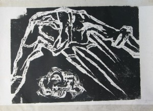 Bahai 1985 wood engraving