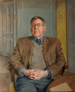 Portrait of Alan Bennett by Sam Dalby