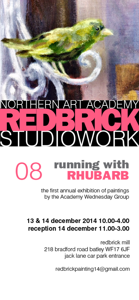 Northern Art Academy, Redbrick Studio Work, exhibition poster