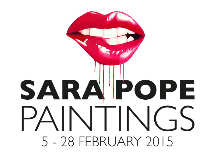 Sara Pope Paintings - exhibition Munro House poster