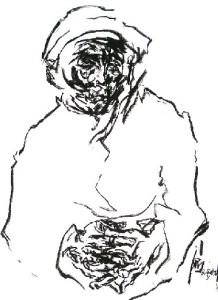 Ba Hai 2003, pastel on paper