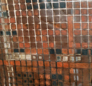 36 x 42 inch metal sheet & rust paint 'Sparkle Street II'_A